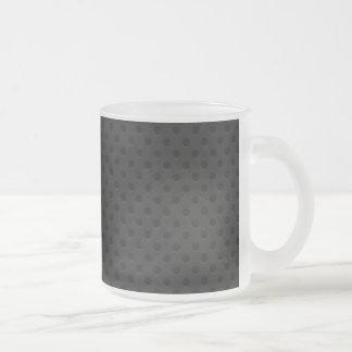 Fibra de carbono perforada negra de Kevlar Taza Cristal Mate
