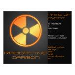 fibra de carbono radiactiva flyer personalizado