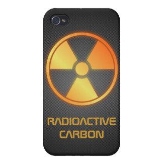 fibra de carbono radiactiva iPhone 4 carcasa