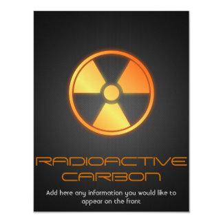 """fibra de carbono radiactiva invitación 4.25"""" x 5.5"""""""
