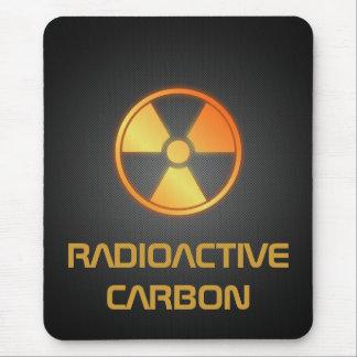 fibra de carbono radiactiva tapete de raton