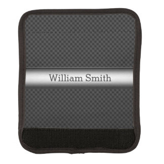 Fibra de carbono rayada de acero funda para asa de maleta