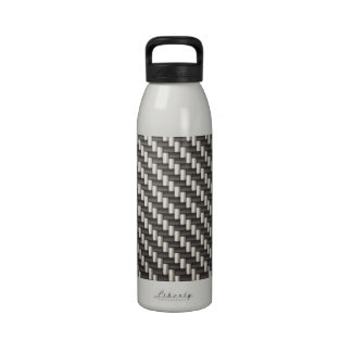 Fibra de carbono reflexiva texturizada botella de beber