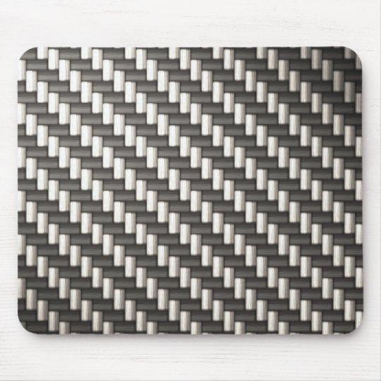 Fibra de carbono reflexiva texturizada alfombrillas de ratón