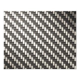 Fibra de carbono reflexiva texturizada fotografía