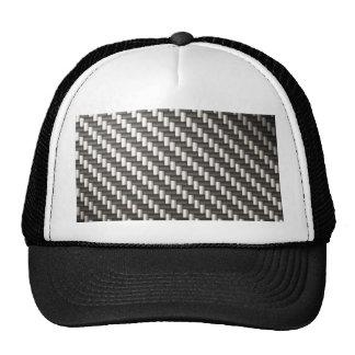 Fibra de carbono reflexiva texturizada gorros bordados
