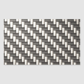 Fibra de carbono reflexiva texturizada rectangular pegatinas