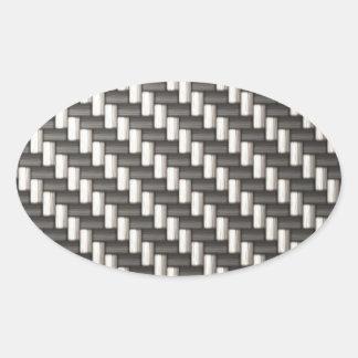 Fibra de carbono reflexiva texturizada pegatina