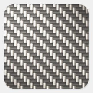 Fibra de carbono reflexiva texturizada calcomania cuadradas