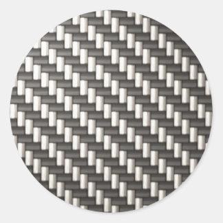 Fibra de carbono reflexiva texturizada pegatina redonda