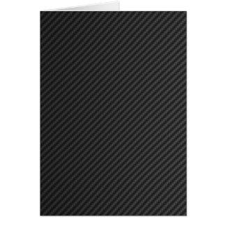 Fibra de carbono tarjeta de felicitación