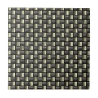 Fibra de carbono texturizada azulejo cuadrado pequeño