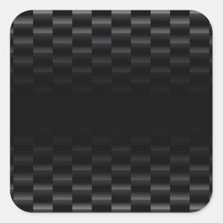 Fibra de carbono texturizada pegatina cuadrada