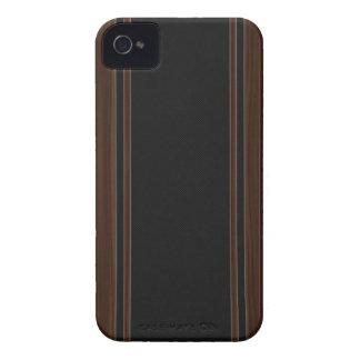 Fibra de carbono y caja de madera oscura del iPhon iPhone 4 Case-Mate Carcasas