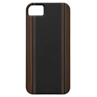 Fibra de carbono y caja de madera oscura del iPhon iPhone 5 Case-Mate Carcasas