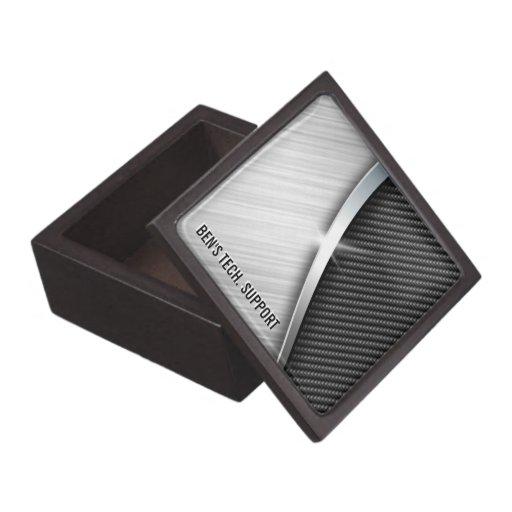 Fibra de carbono y cajas de regalo superiores cepi cajas de recuerdo de calidad