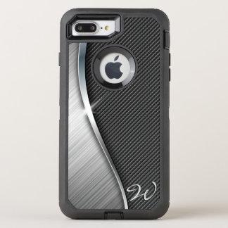 Fibra de carbono y metal cepillado 4 funda OtterBox defender para iPhone 7 plus