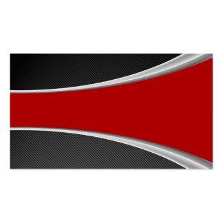 Fibra de carbono y rojo plantillas de tarjetas personales