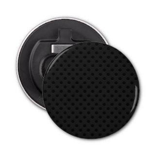 Fibra micro negra del agujerito abrebotellas redondo