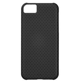 Fibra micro negra del agujerito carcasa para iPhone 5C