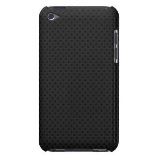 Fibra micro negra del agujerito carcasa para iPod