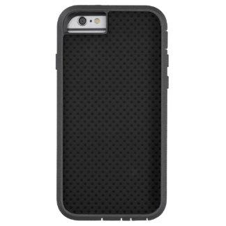 Fibra micro negra del agujerito funda de iPhone 6 tough xtreme