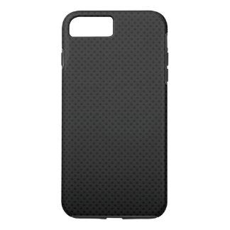 Fibra micro negra del agujerito funda iPhone 7 plus