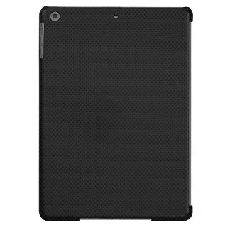 Fibra micro negra del agujerito funda para iPad air