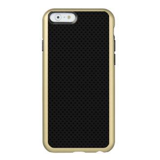 Fibra micro negra del agujerito funda para iPhone 6 plus incipio feather shine