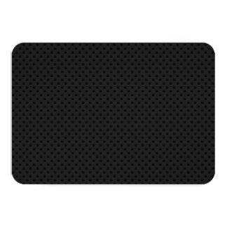 "Fibra micro negra del agujerito invitación 3.5"" x 5"""