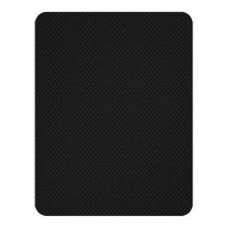 "Fibra micro negra del agujerito invitación 4.25"" x 5.5"""