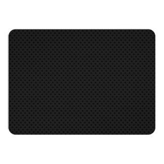 "Fibra micro negra del agujerito invitación 4.5"" x 6.25"""