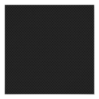 "Fibra micro negra del agujerito invitación 5.25"" x 5.25"""