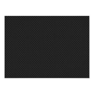 "Fibra micro negra del agujerito invitación 5.5"" x 7.5"""