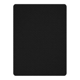 "Fibra micro negra del agujerito invitación 6.5"" x 8.75"""