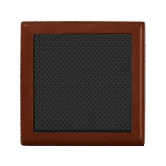 Fibra micro negra del agujerito joyero cuadrado pequeño