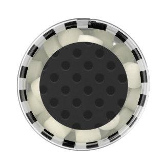 Fibra perforada negra del agujerito