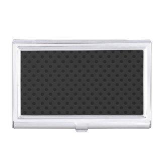 Fibra perforada negra del agujerito caja de tarjetas de negocios