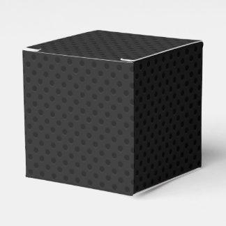 Fibra perforada negra del agujerito caja para regalo de boda
