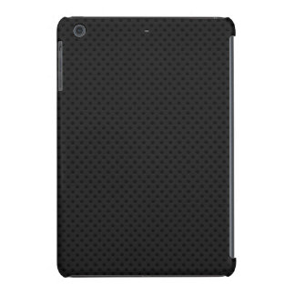 Fibra perforada negra del agujerito carcasa para iPad mini