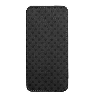 Fibra perforada negra del agujerito funda acolchada para iPhone