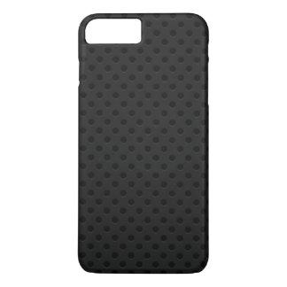 Fibra perforada negra del agujerito funda iPhone 7 plus