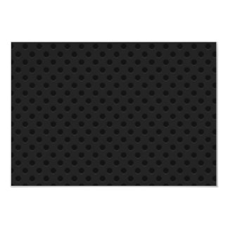 "Fibra perforada negra del agujerito invitación 3.5"" x 5"""