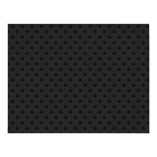 "Fibra perforada negra del agujerito invitación 4.25"" x 5.5"""