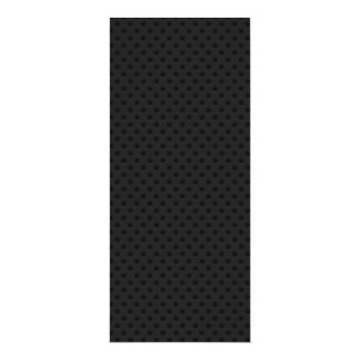 "Fibra perforada negra del agujerito invitación 4"" x 9.25"""