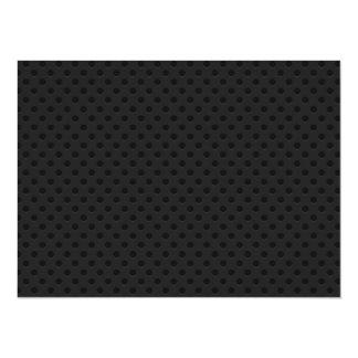 "Fibra perforada negra del agujerito invitación 5.5"" x 7.5"""