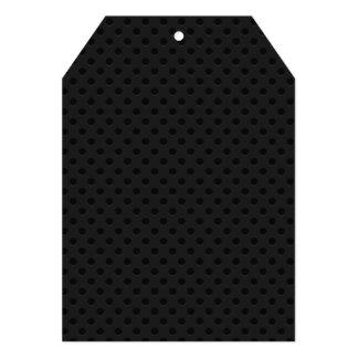 "Fibra perforada negra del agujerito invitación 5"" x 7"""