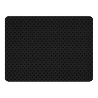 "Fibra perforada negra del agujerito invitación 6.5"" x 8.75"""