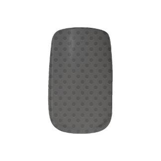 Fibra perforada negra del agujerito pegatinas para manicura
