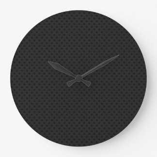 Fibra perforada negra del agujerito reloj redondo grande